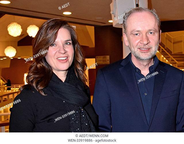 Katarina Witt, Ferdinand von Schirach at the book premiere Strafe by Ferdinand von Schirach at Kammermusiksaal Philharmonie. Berlin, Germany - 12.03