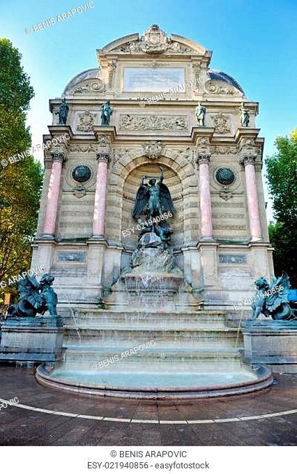 Saint Michel fountain in Paris