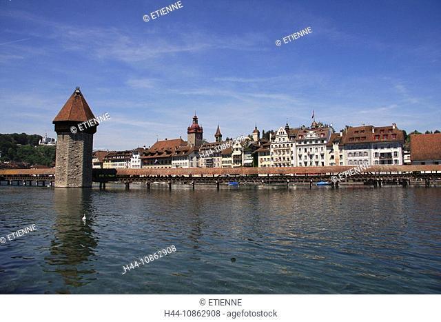 Switzerland, town, City of Lucerne, Reuss, chapel
