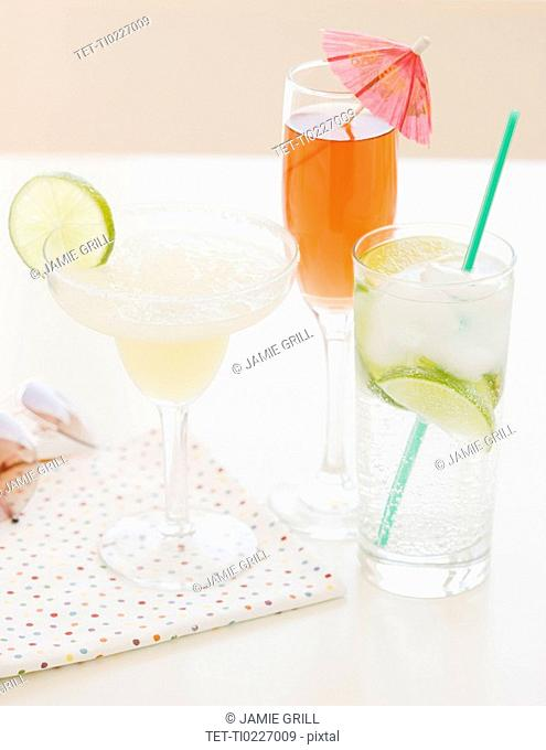 Assorted mixed drinks