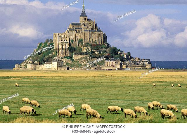 Mont Saint Michel. Manche, Normandy, France