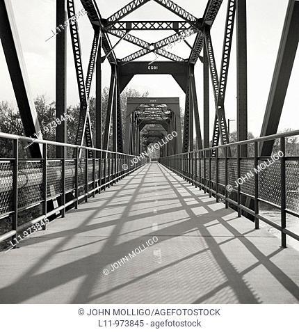 Steel bridge on Boise, Idaho Greenbelt