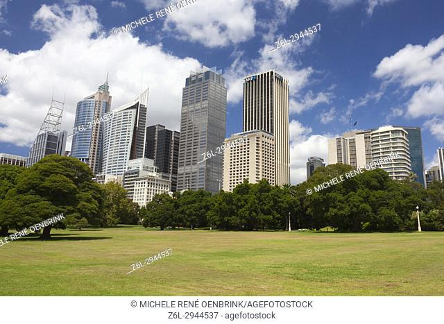 City skyline of Sydney Australia