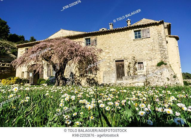 Abbaye de Saint-Hilaire, near Menerbes, Luberon mountains, Provence-Alpes-Côte d'Azur, France