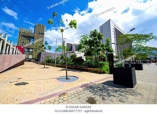 Square of the Medellin Freedom, Medellin, Antioquia, Colombia
