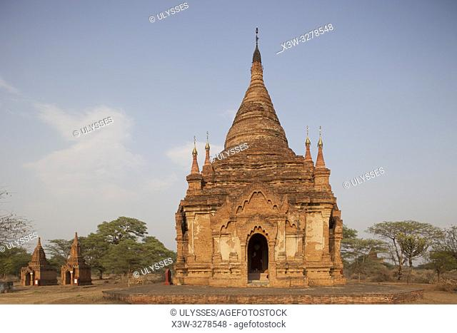 Temple in Old Bagan village area, Mandalay region, Myanmar, Asia