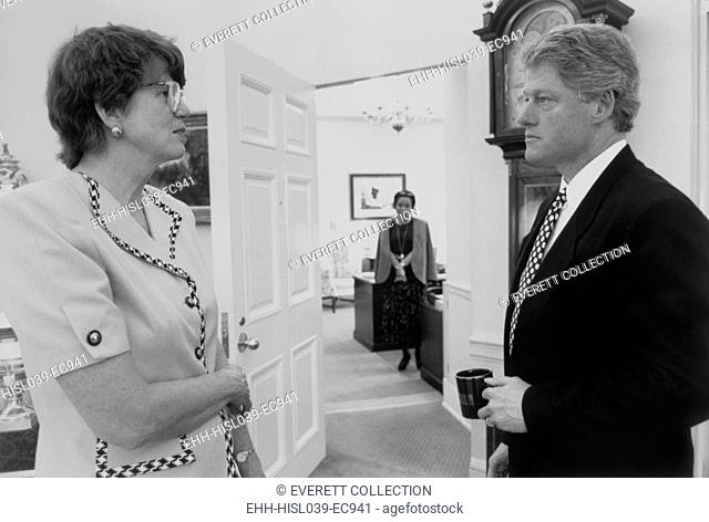 President Bill Clinton and Attorney General Janet Reno. Her most controversial action was authorization the FBI assault on the Branch Davidians in Waco, Texas