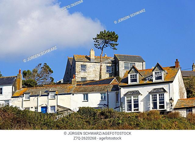 Houses in Port Isaac, Cornwall, UK