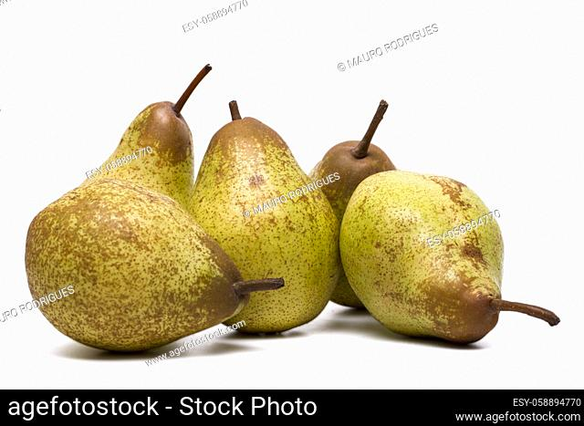 Close up view of a fresh and healthy rock pears isolated on a white background