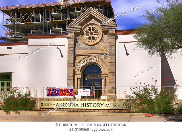 Outside the Arizona History Museum building on E 2nd Street in downtown Tucson AZ