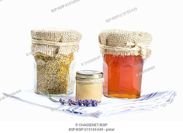 Royal jelly, honey and bee pollen