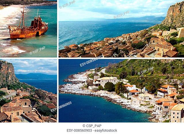 Limeni traditional fishing village at Peloponnese, Mani, Greece