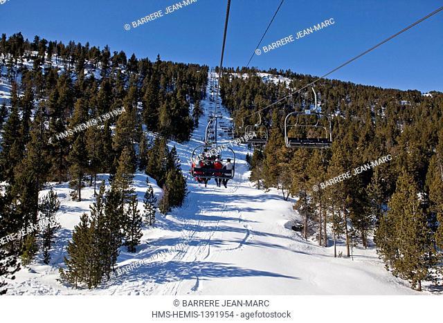 France, Pyrenees Orientales, ski resort of Font Romeu Pyrenees 2000