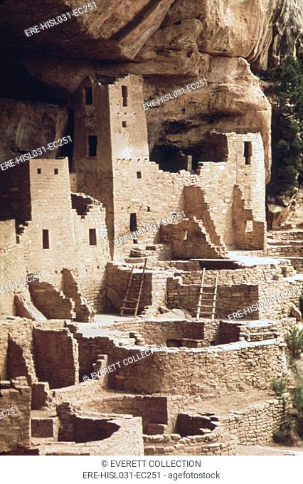 The 'Cliff Palace' at the Mesa Verde site was once a village of over 200 rooms and 23 Kivas. The site was abandoned around 1275 perhaps by drought or the...