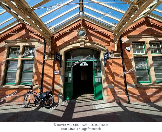 the entrance at the Great Central Railway,Loughborough station,Leicestershire,Britain