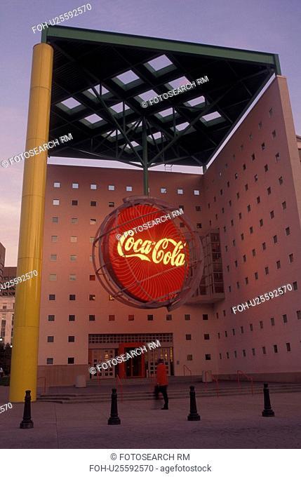 Atlanta, GA, Georgia, World of Coca-Cola, evening