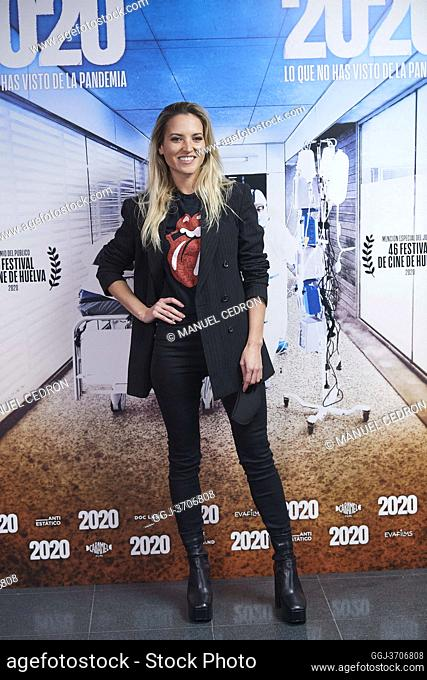 Ana Fernandez attends '2020' Documental Movie Exclusive Premiere at Wizink Center on November 26, 2020 in Madrid, Spain