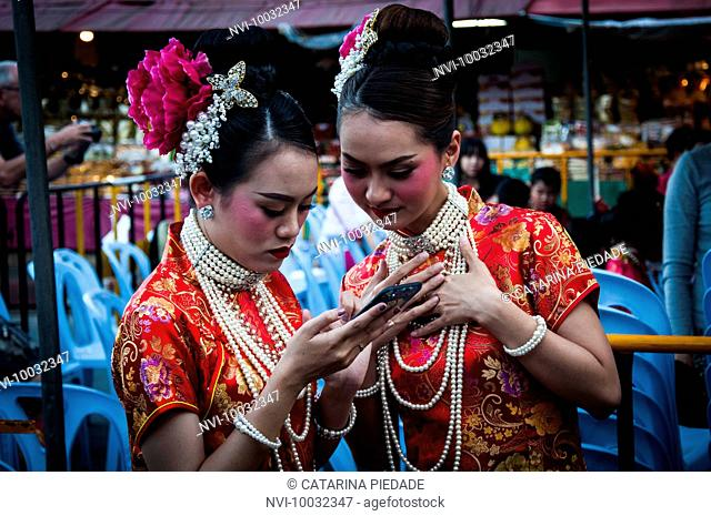 Celebration of the Chinese new year at Chiang Mai, Thailand
