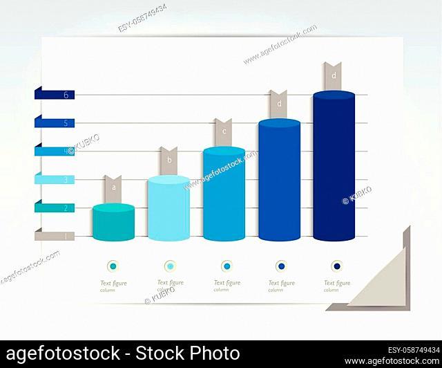 Chart, column graph, infographic element