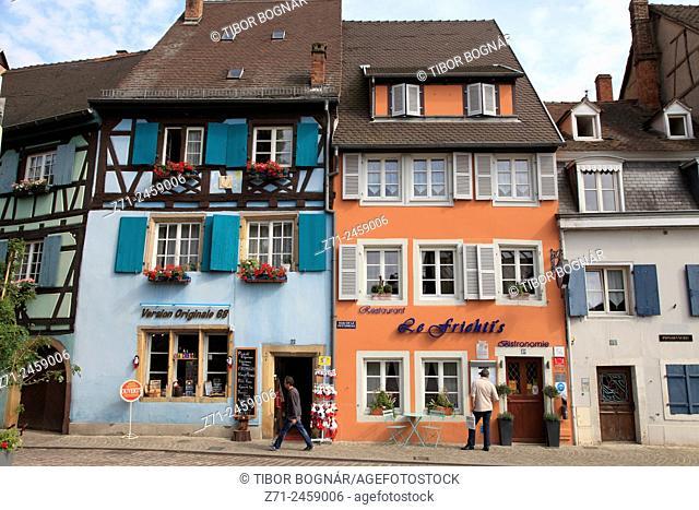 France, Alsace, Colmar, Quai de la Poissonnerie