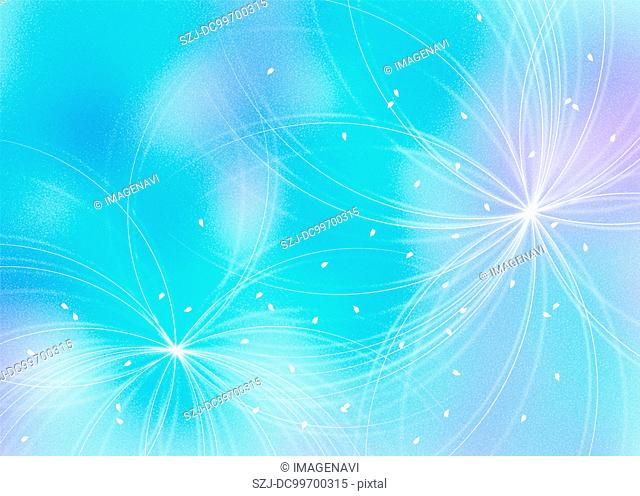 Oriental background in light blue color