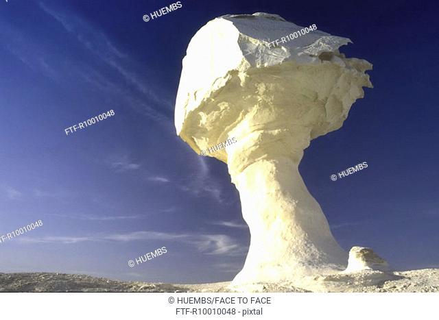 White rock formation in the desert, Egypt