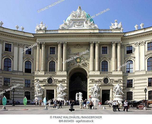 Michaelertrakt Wing on Michaelerplatz Square, Hofburg Imperial Palace, Vienna, Austria, Europe