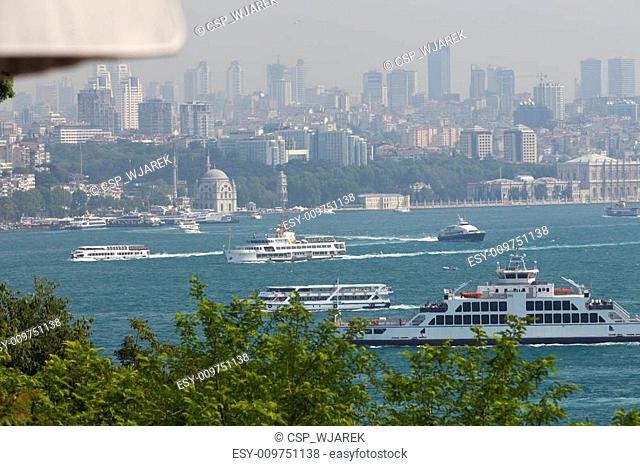 Istanbul - the view on the strait Bosphorus from the palace Topkapi