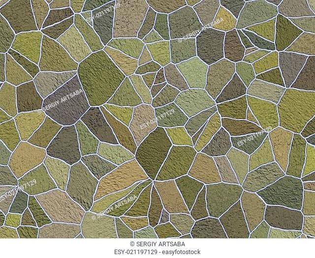 Green sidewalk blocks background
