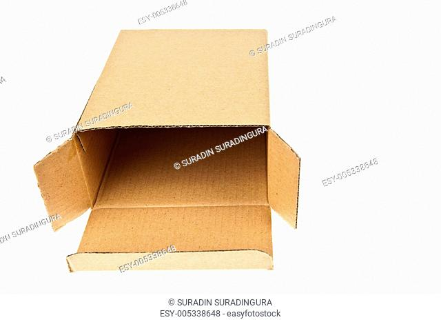 Classic brown paper box isolated on white background