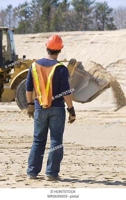 Engineer standing