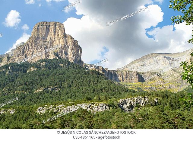 Tozal del Mallo in Ordesa Valley, declarated World Heritage by UNESCO, and belonging to Ordesa y Monte Perdido National Park  Pyrenees  Torla  Huesca province...