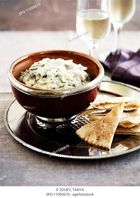 Baba Ganoush aubergine dip from the Middle East