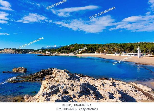 Moraira Playa la Ampolla beach in Teulada Alicante Spain