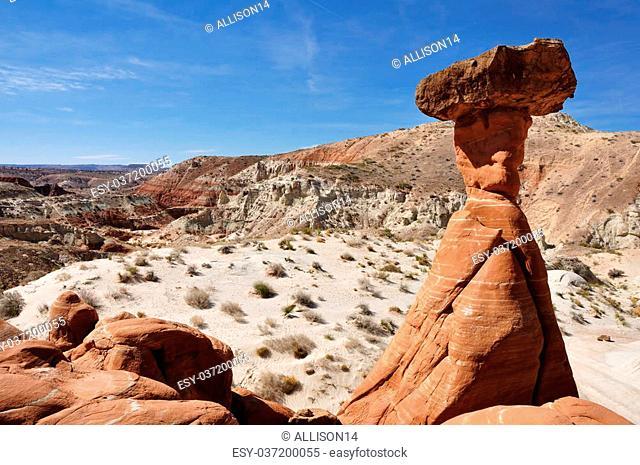 Paria Rimrocks Red Toadstool (Hoodoo) in Southern Utah