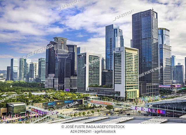 China, Shenzhen City, Gang Sha District Skyline