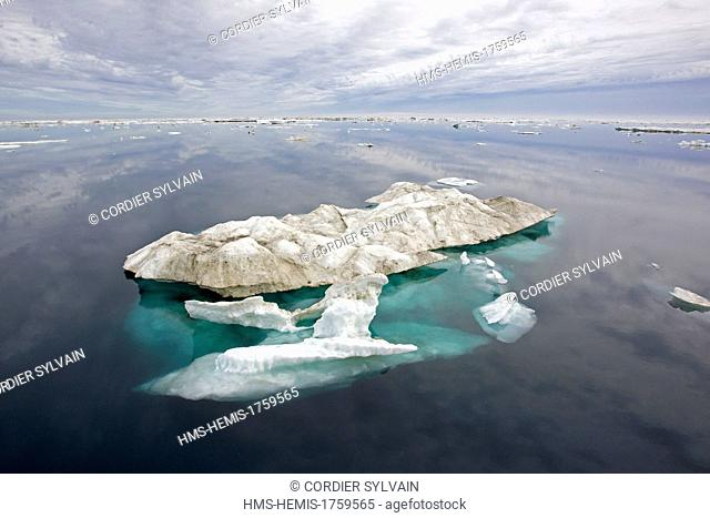 Russia, Chukotka autonomous district, Herald island north east of Wrangel island, pack ice