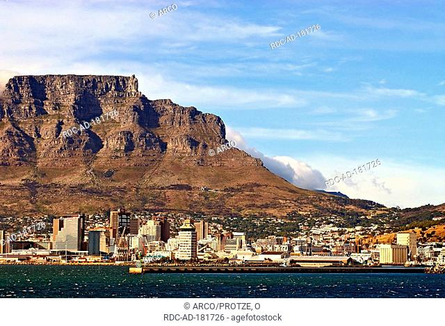 View on Cape Town with Table Mountain, South Africa