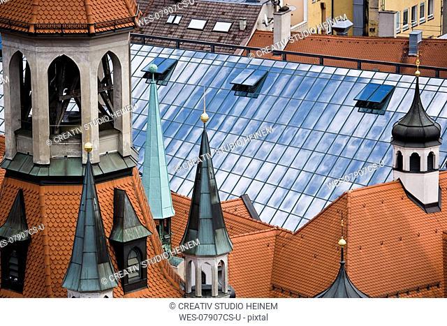 Germany, Bavaria, Munich, roof of Schrannenhalle
