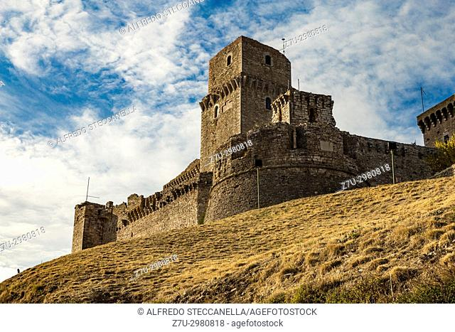Italy: The Rocca Maggiore dominates for more than eight hundred years the citadel of Assisi and the valley of the Tescio