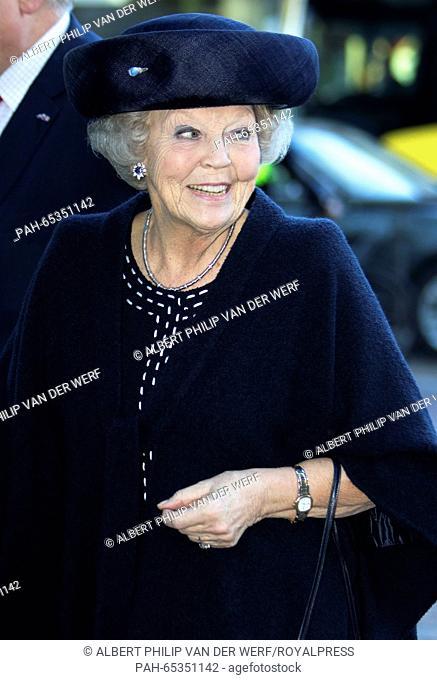 Utrecht , 25-01-2016 HRH Princess Beatrix HRH Princess Beatrix attends in TivoliVredenburg in Utrecht the 10-year anniversary of the interfaith network in...