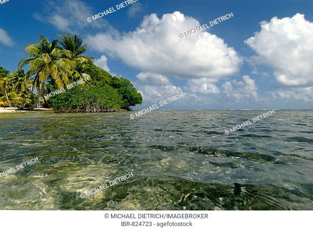 South Water Caye, coral island, Belize Barrier Reef, Caribbean, Central America