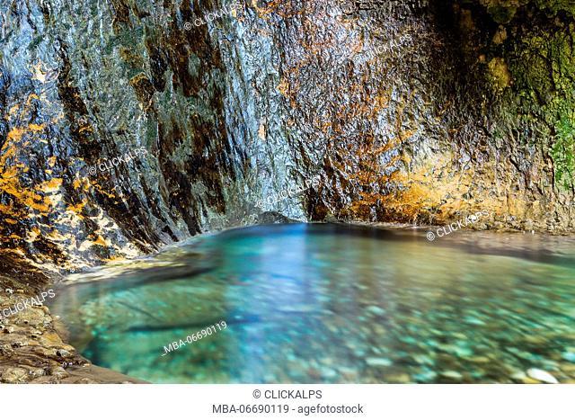 italy, veneto, Waterfall Park of Molina