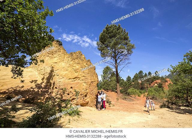 France, Vaucluse, regional natural reserve of Luberon, Rustrel, Provençal Colorado, former careers of ochre