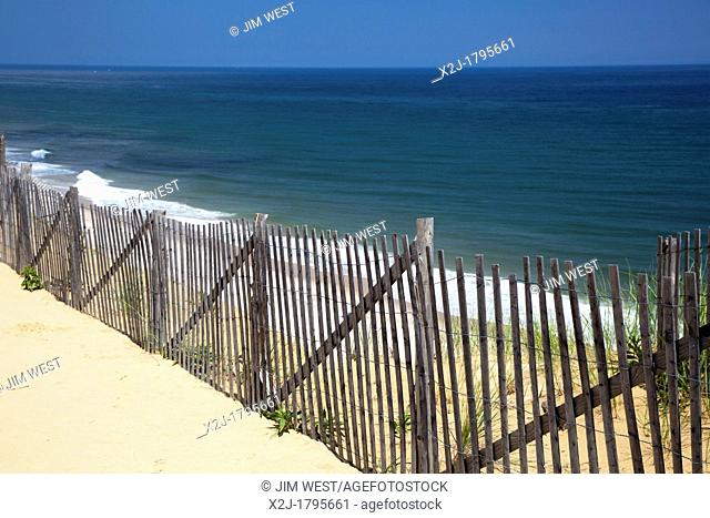 Wellfleet, Massachusetts - Marconi Beach in Cape Cod National Seashore  The beach was the site of Marconi Station, where Guglielmo Marconi transmitted the first...