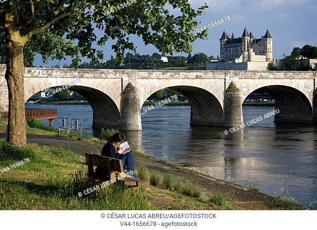 Loire river, Saumur, Maine-et-Loire, Pays de la Loire, France