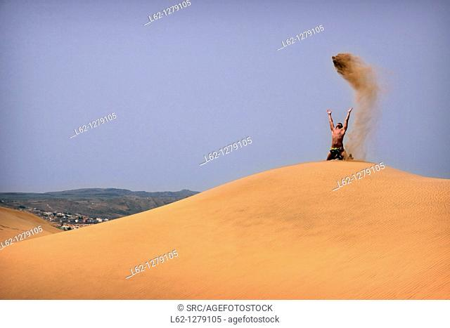 Sand dunes, Maspalomas, Gran Canaria, Canary Islands, Spain