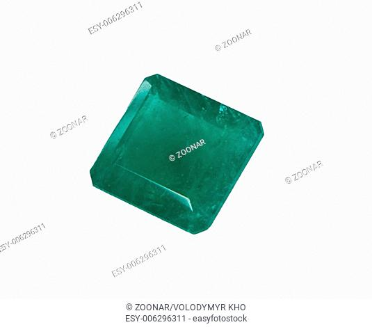 green gem with smooth edges