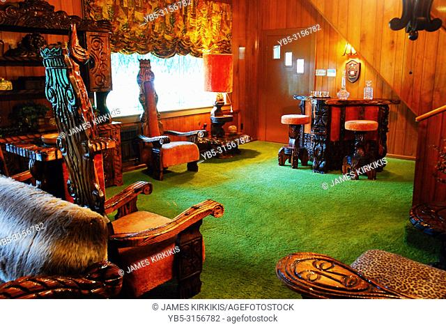 The Famous Jungle Room at Graceland, Home of Elvis Presely