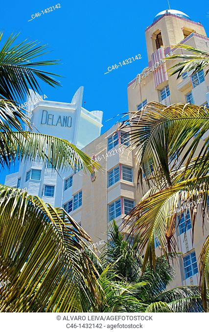 Delano Hotel, Collins Avenue, South Beach, Miami, Florida, USA